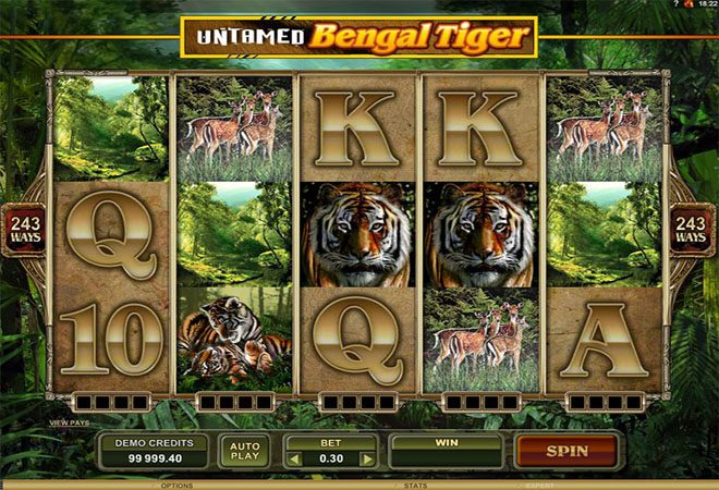 Untamed Bengal Tiger Slot Machine Online ᐈ Microgaming™ Casino Slots